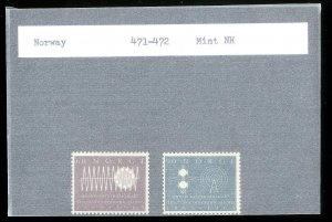 NORWAY Sc#471-472 MINT NEVER HINGED Complete Set