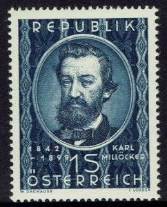 AUSTRIA 1949 50TH DEATH ANNIVERSARY 1S MNH **