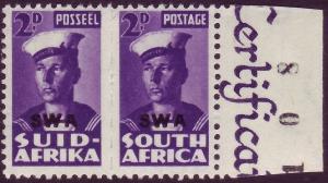 SOUTH WEST AFRICA SG126, 2d violet, NH MINT.