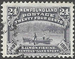 Newfoundland Scott Number 71 FVF Used