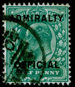 SGO107, ½d blue-green, FINE USED, CDS. Cat £22.