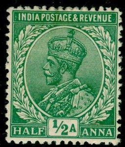 INDIA SG157, ½a brt green, M MINT.