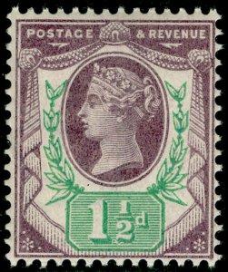 SG198, 1½d dull purple & green, NH MINT. Cat £25.