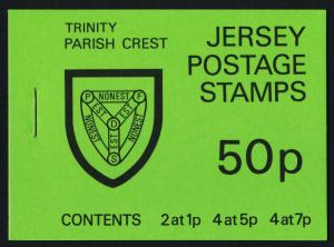 Jersey SB25 Booklet (Sc 138a,139a,141a) MNH Trinity Cover, Crests