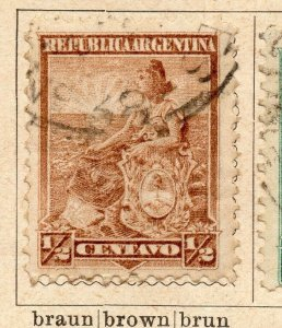 Argentina 1899 Early Issue Fine Used 1/2c. NW-11756