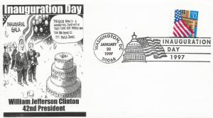 Clinton Inaugural cover Noble Catalog number WJC-II-302
