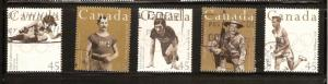 CANADA SET ON CAN. OLYMPIC GOLD MEDALIST USED STAMPS LOT#197