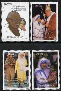 Turkmenistan 1997 50th Anniversary of Indian Independence...