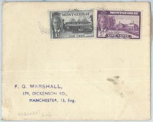 69110 - MONTSERRAT - POSTAL HISTORY - SHIP MAIL paquebot COVER 1952