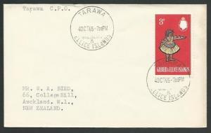 GILBERT & ELLICE IS 1965 cover to New Zealand - TARAWA cds.................11069