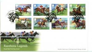 Great Britain 2017 FDC Racehorse Legends Horse   Sc# 3598-3605