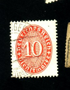 Germany #O60 Used F-VF Cat $19