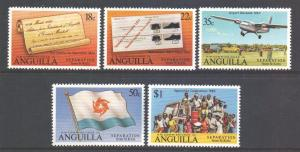 Anguilla Scott 424/428, 1980 Separation from Saint-Kitts Set MNH**