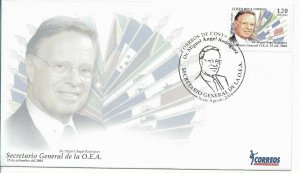 COSTA RICA 2004 OEA DR. MIGUEL ANGEL FERNANDEZ FLAGS FIRST DAY COVER