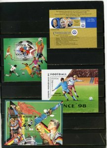 SOCCER WORLD CUP SMALL COLLECTION SET OF 4 S/S MNH