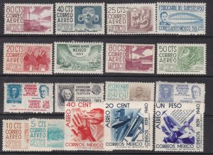 MEXICO ^^^^^x17  older   MNH& MH AIRPOSTS collection@ sc 65mex65