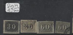 BRAZIL (P2711B)   NUMERAL  30R, 60R  SC 23-4 X2 OF EACH  VFU