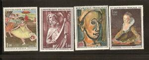 FRANCE STAMPS MNH -4 DIFFERENTS  PAINTINGS  LOT#275