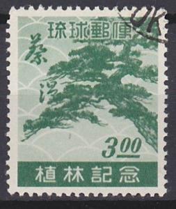 Ryukyu Islands 15 used (1951)