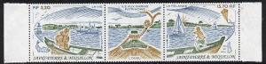 St Pierre & Miquelon 1989 National Heritage se-tenant...