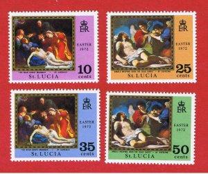 St. Lucia  #312-315  MNH OG  Easter  Free S/H