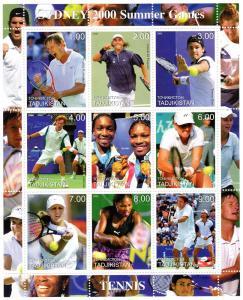 Kyrgyzstan 2000 Sydney Olympics Tennis  Shlt (9) Perf.MNH