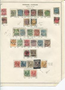Denmark nice collection on page F-VF HICV  -   LSP