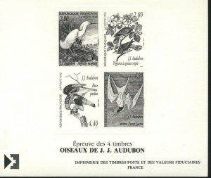 France MNH Scott # 2465a PROOF Audubon Birds