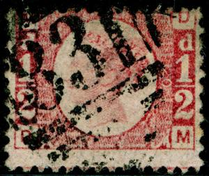 SG48, ½d rose-red PLATE 20, USED. Cat £75. DM
