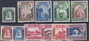 ADEN  KATHIRI  1942  S G 1 - 11  SET OF 11       MNH