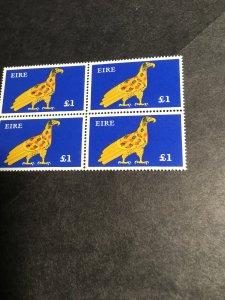 Ireland #359 Mint Block of Four VF-NH 1975 One Pound Eagle Top ValueofSet Unwmk.