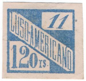 (I.B-CK) Brazil Cinderella : Luso-Americano Charity Stamp 120r