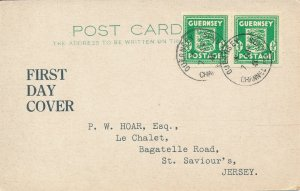 Card Germany Guernsey 1941 WWII England Invasion War First Day UK FDC