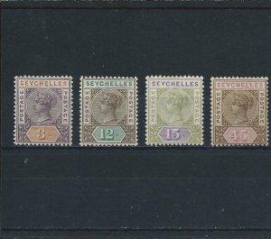 SEYCHELLES 1893 SET OF FOUR MM SG 22/25 CAT £35
