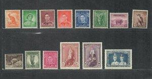 Australia Sc#166-179 M/H/VF, 174 Crease, Cv. $161.20