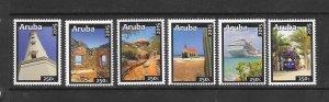 ARUBA #471a-f BUILDINGS  MNH