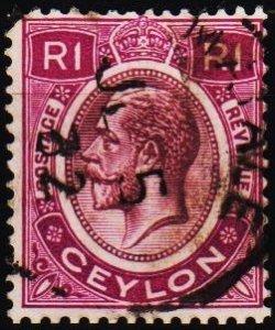 Ceylon. 1912 1R S.G.315 Fine Used