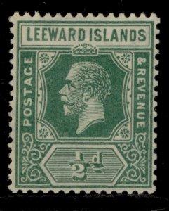 LEEWARD ISLANDS SG59, ½d blue-green, LH MINT.