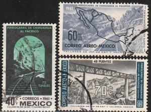 MEXICO 919, C258-C259, OPENING OF THE Chihuahua-Pacific Railroad USED. VF (1069)