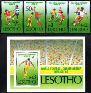 Lesotho - 1986 FIFA Soccer World Cup Set & MS SG 686-690