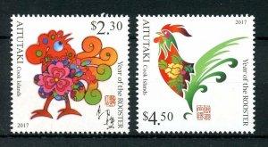 2016 Aitutaki 960y-961y Year of the Rooster 12,00 €