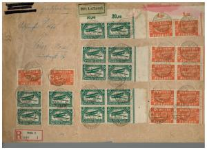 1922 Berlin Germany Airmail Oversize Cover to Trier 12 # C1 14 # C2