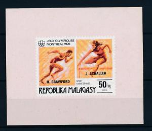 [55781] Madagascar 1976 Olympic games Athletics Overprint MNH Sheet