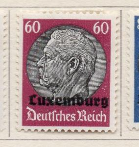 Luxembourg 1940 German Occ. Issue Fine Mint Hinged 60p. Optd 241641