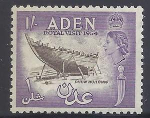 Aden #55 MNH - 1953 1sh Dhow Building