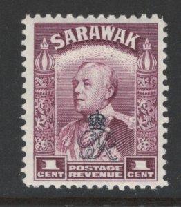 Sarawak 1947 Sir Charles Vyner Brooke Overprint 1c Scott # 159 MH