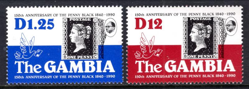 Gambia 1001-1002 Stamp on Stamp MNH VF