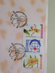 SINGAPORE 1993 FDC - SINGAPORE '95 ORCHID SERIES (TAIPEI) EXCELLENT CONDITION.