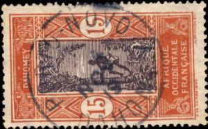 DAHOMEY - 1919 - CAD SIMPLE CERCLE PORTO NOVO / DAHOMEY SUR N°48