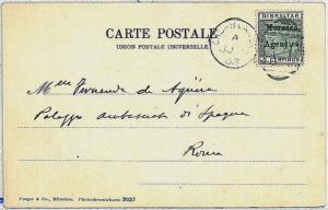 POSTAL HISTORY -  GIBRALTAR overprinted MOROCCO AGENCIES: postcard to Italy 1903